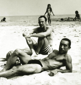 Mishima & Henry on the beach